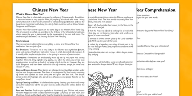 chinese new year reading comprehension esl chinese new year. Black Bedroom Furniture Sets. Home Design Ideas