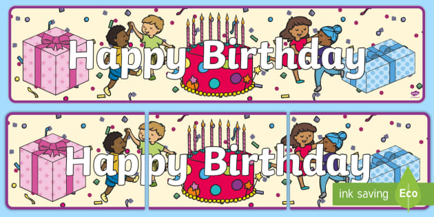 Happy Birthday Banner - happy birthday banner, Display banner