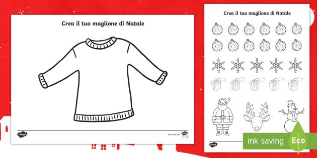 Crea il tuo maglione di natale taglia e incolla attivit for Crea il tuo progetto di casa