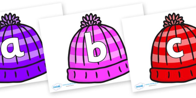 Phoneme Set on Woolly Hats - Phoneme set, phonemes, phoneme, Letters and Sounds, DfES, display, Phase 1, Phase 2, Phase 3, Phase 5, Foundation, Literacy