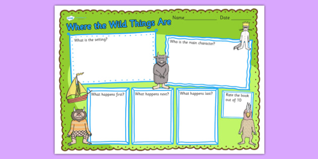 Book Review Writing Frame to Support Teaching on Where the Wild Things Are - where the wild things are, book review, writing frame, book review writing frame, writing template