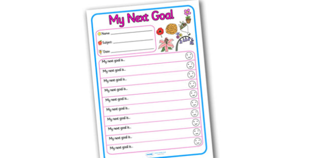 Themed Target and Achievement Sheets Flower Themed My Next Goal - Target and Achievement Sheet, My Next Goal Sheet, Target Sheet, Flower Themed