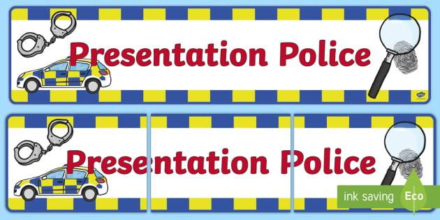 Presentation Police Display Banner - presentation police, display banner, display, banner