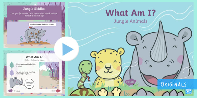 Free What Am I Jungle Animal Powerpoint Teacher Made