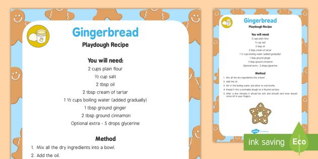 Gingerbread Playdough Recipe - playdough, recipe, gingerbread