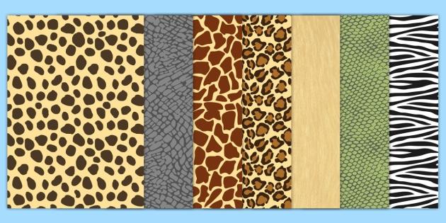 FREE! - Safari Animal-Themed Pattern A4 Sheets - safari ...