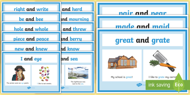 homophones and homonyms list pdf