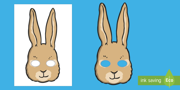 Rabbit Role Play Masks - rabbit, peter rabbit, role play, play