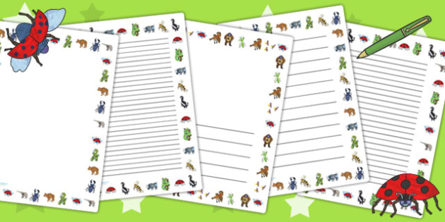 Page Borders to Support Teaching on The Bad Tempered Ladybird - writing aid, stories