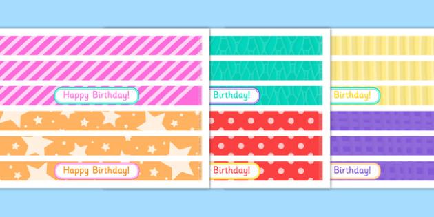 Birthday Party Cake Ribbon - birthday party, birthday, party, cake ribbon