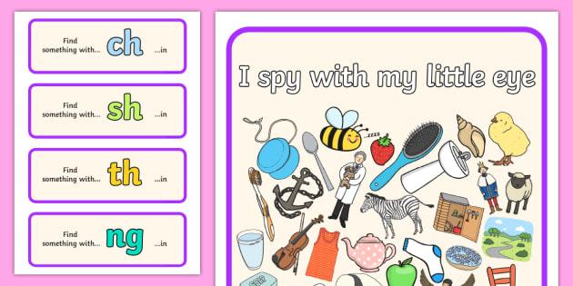 I Spy Phase 3 Graphemes 1 - I Spy, phase 3 graphemes, activity, phase 3, graphemes