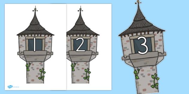 Rapunzel 0-20 on Towers - australia, rapunzel, towers, numbers