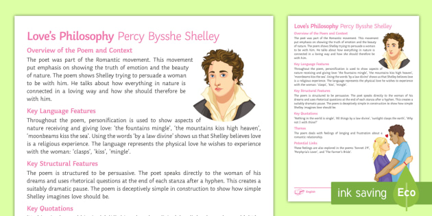 loves philosophy poem by percy bysshe shelley