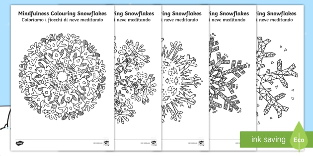 it t t mindfulness colouring snowflakes colouring pages english italian ver 1