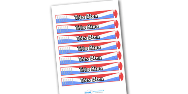 Wristband Awards (French) - French, francais, tres bien, well done, wristband, band, award, reward, award, certificate, medal, rewards, school reward, MFL, Modern Foreign Languages, foundation, languages