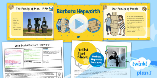 Art: Let's Sculpt: Barbara Hepworth KS1 Lesson Pack 3