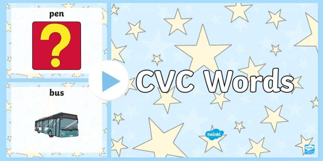 CVC Words Reading PowerPoint Activity - read, CVC, books, reading, literacy, phonics, cvc, powerpoint