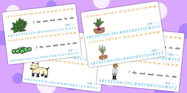 Oliver's Vegetables Combined Number and Alphabet Strips - a-z