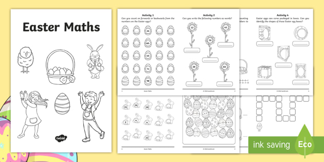 KS1 Easter-Themed Maths Activity Booklet - mastery, problem