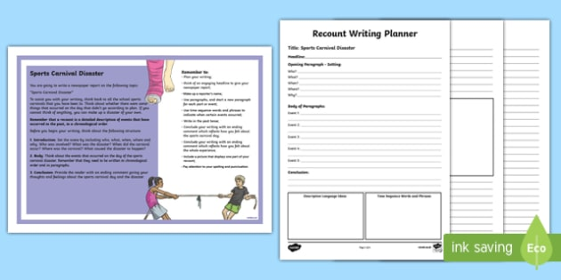 Year 5 Recount Writing - Sports Carnival Disaster