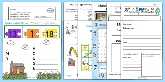 KS1 Homework Activity Pack - Year 1 Homework Sheets, Year 2 ...