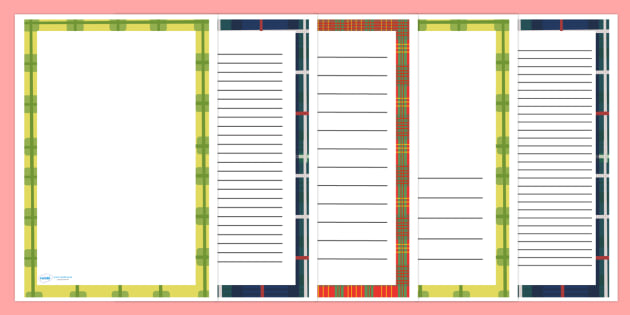 St Andrews Day Page Borders - St. Andrew's Day, Saint Andrew, patron, saint, Scotland, page border, border, writing template, writing aid, writing, Scottish, national day, cultures, countries, november, Tartan