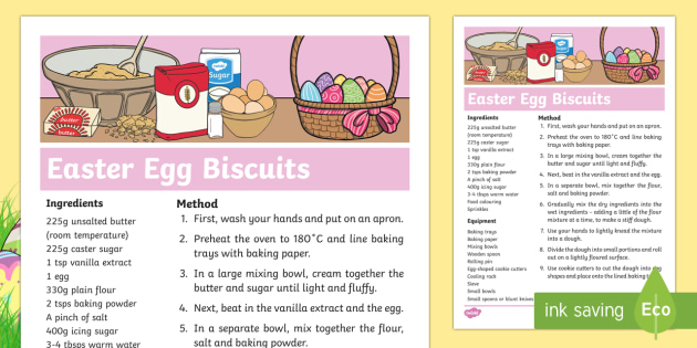 Easter Egg Biscuit Recipe