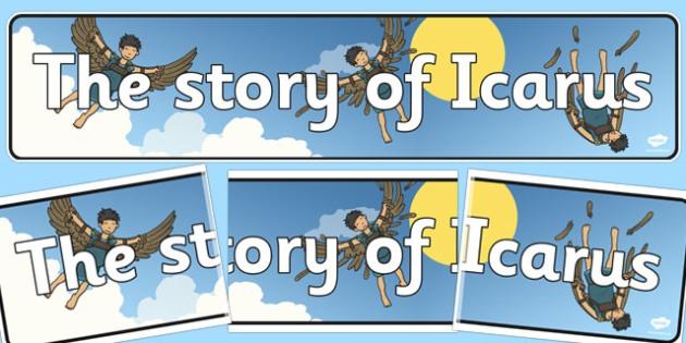 Icarus Display Banner - icarus, display, banner, greek, myth