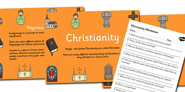 Christianity Teaching Pack - christianity, christianity powerpoint, christianity task setter, christianity worksheet, religion lesson pack