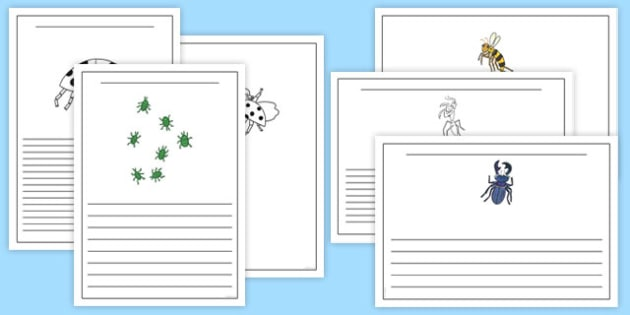 Writing Frames to Support Teaching on The Bad Tempered Ladybird - writing templates