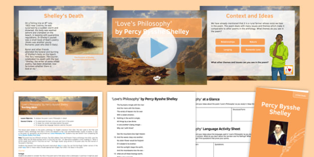 GCSE Poetry - Love's Philosophy Lesson Pack