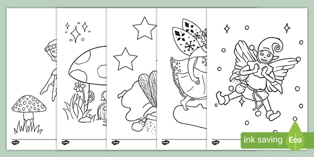 - Fairy Colouring Pages For Kids (teacher Made)