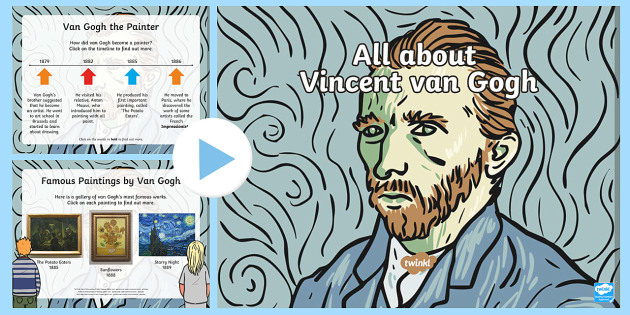 Van Gogh Information PowerPoint - KS1, KS2, Key stage one, key stage two, ks1, ks2, year one, year two, year 1, year 2, y1, y2, primar