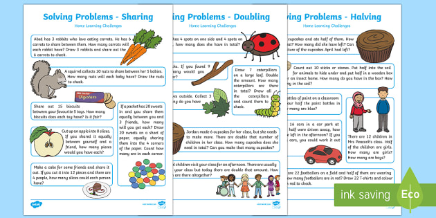 EYFS Maths: Solving Problems - Doubling, Halving and Sharing