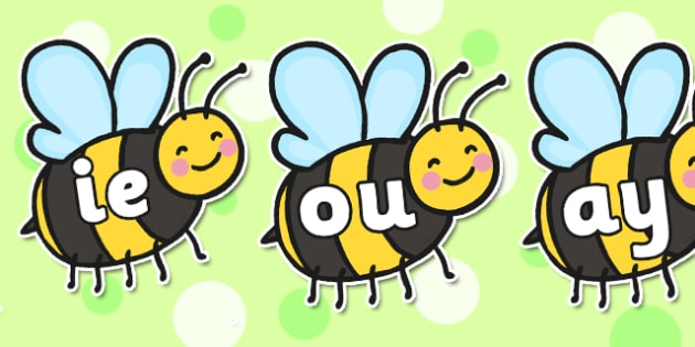 Phase 5 Phonemes on Bees - phase 5, phonemes, bees, display