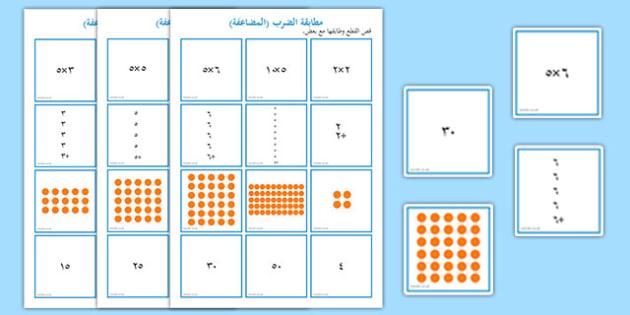 أحجية مطابقة جدول الضرب للأعداد 2 و 5 و 10 - جدول الضرب، حساب