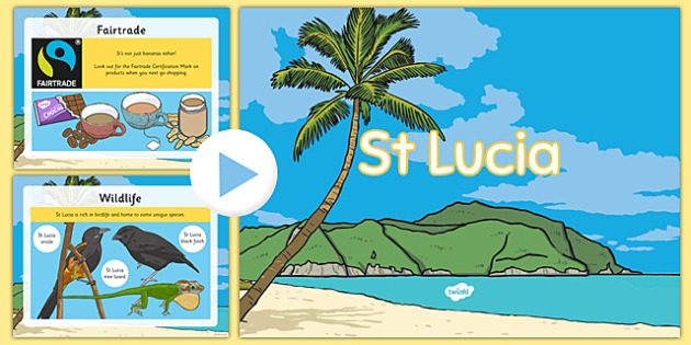 St Lucia Lesson Teaching PowerPoint - st lucia, lesson, teaching, powerpoint