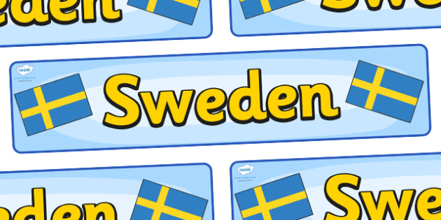 Sweden Display Banner - Sweden, Olympics, Olympic Games, sports, Olympic, London, 2012, display, banner, sign, poster, activity, Olympic torch, flag, countries, medal, Olympic Rings, mascots, flame, compete, events, tennis, athlete, swimming