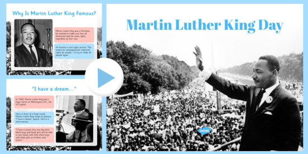Martin Luther King Day KS1 Assembly Presentation - martin luther king, ks1, assembly, presentation