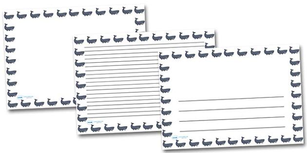 Whale Landscape Page Borders- Landscape Page Borders - Page border, border, writing template, writing aid, writing frame, a4 border, template, templates, landscape