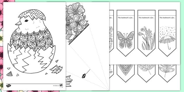 Mindfulness Coloring Pack for Parents: Spring (teacher made)