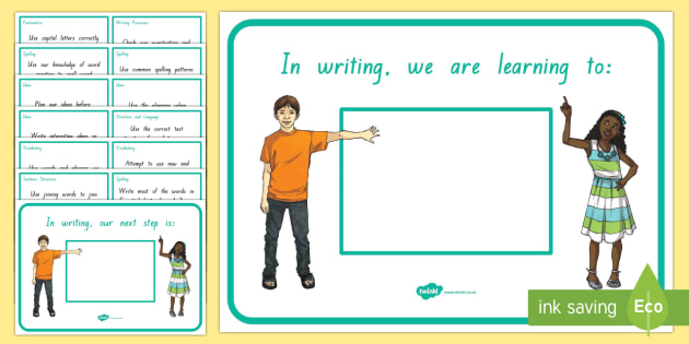 New Zealand Writing Second Year of School We Are Learning and Our Next Learning Steps Display Posters