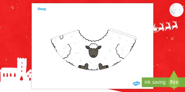 Nativity Sheep Cone Characters - 3D paper craft, cone, cone character, Christmas, Nativity, baby Jesus, shepherds, manger, Bethlehem,