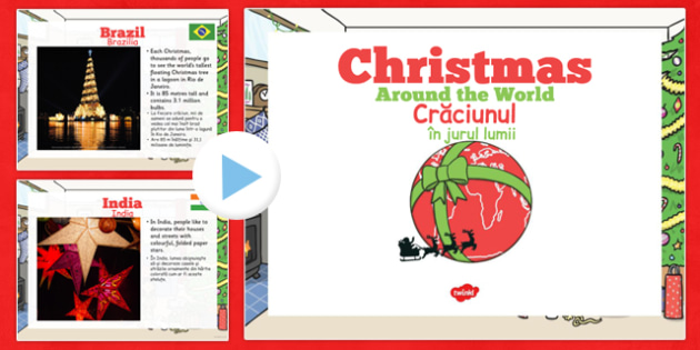EYFS Christmas Around the World PowerPoint Romanian Translation - romanian, eyfs, christmas, around the world, powerpoint
