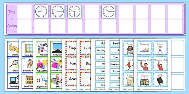 KS2 Visual Timetable Resource Pack - ks2, visual, timetable, pack