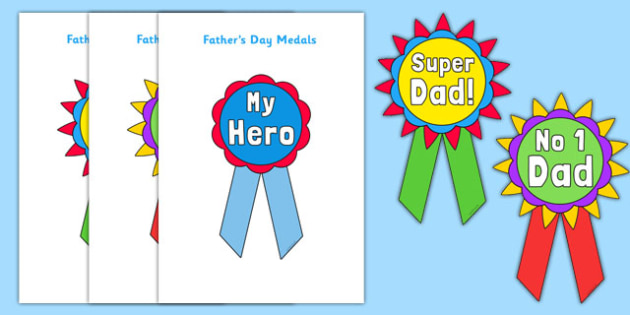 Father's Day Printable Badges - fathers day, printable, badges