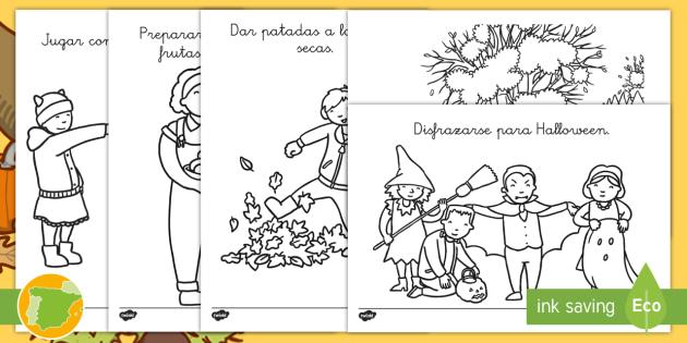Hoja De Otono Para Colorear Para Dibujo Hoja De Otono Para: Hojas De Colorear: Actividades De Otoño