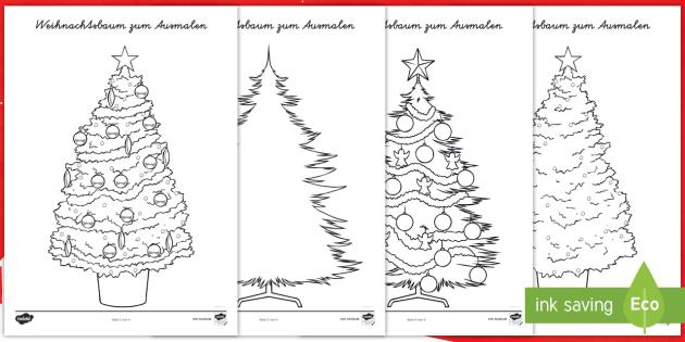 weihnachtsb ume zum selbstgestalten weihnachten. Black Bedroom Furniture Sets. Home Design Ideas