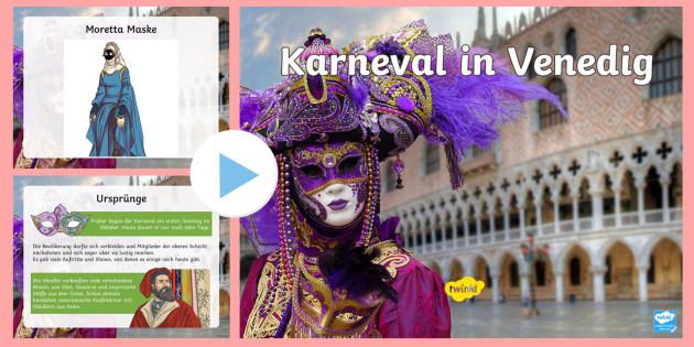 Karneval In Venedig Powerpoint Präsentation Fasching Italien