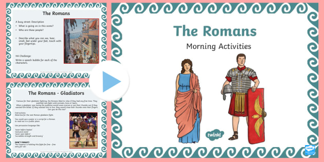 1 Week Romans Topic Morning Activities LKS2 - roman, history